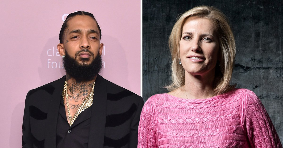 Fox News host Laura Ingraham mocks Nipsey Hussle memorial service after showing images of wrong rapper