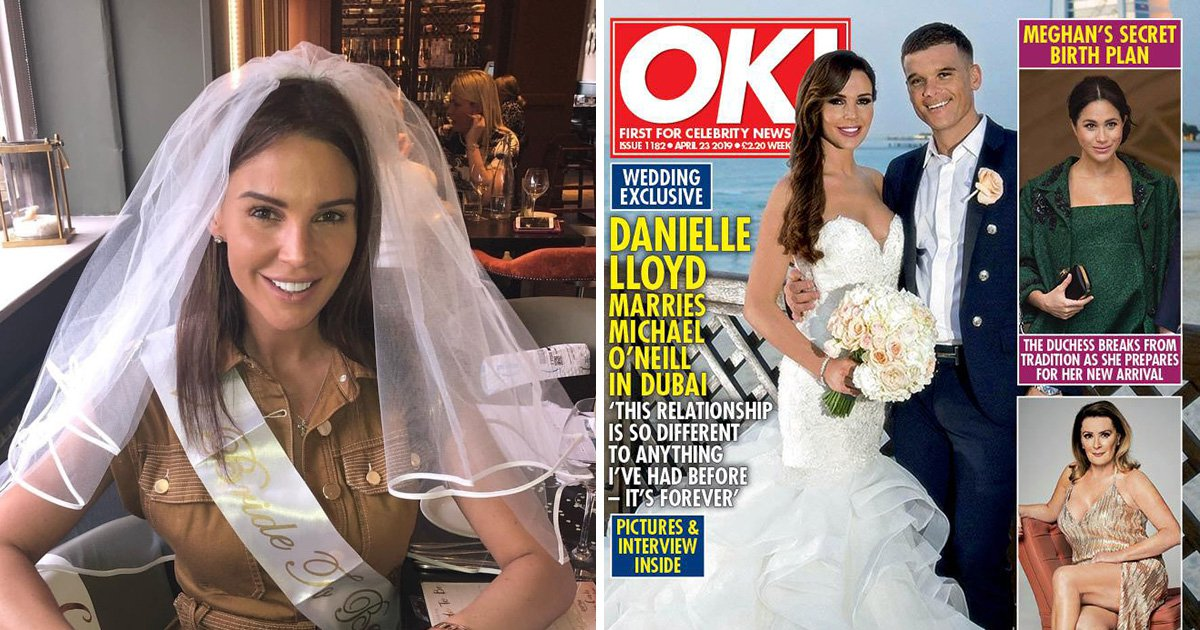 Danielle Lloyd ties the knot with husband Michael O'Neill in 'perfect' Dubai wedding and admits she's keen for more kids
