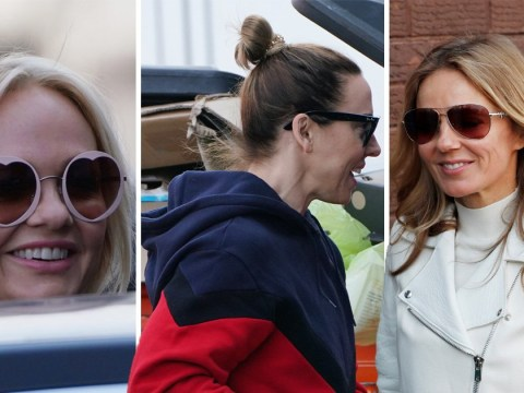 Spice Girls are all smiles as they begin tour rehearsals – without Mel B