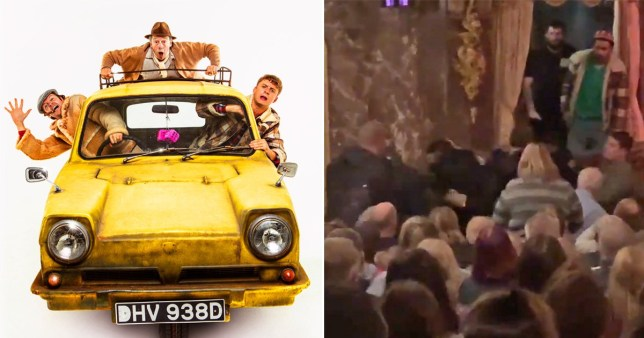 Only Fools And Horses musical audience altercation