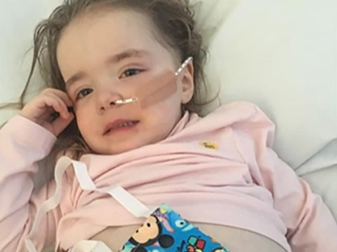 Two-year-old girl's rare type of cancer makes her look pregnant