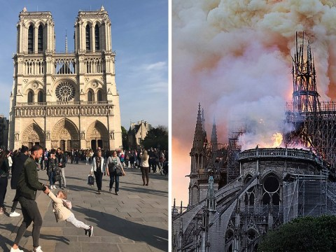 Appeal to find dad and daughter pictured in front of Notre Dame an hour before fire