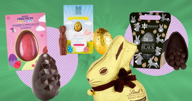 a range of vegan Easter eggs