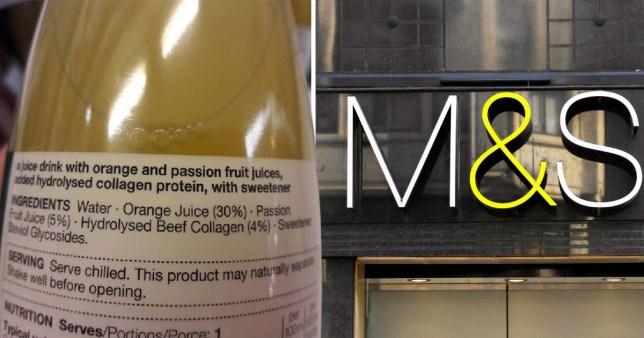 M&S slammed for collagen in drinks