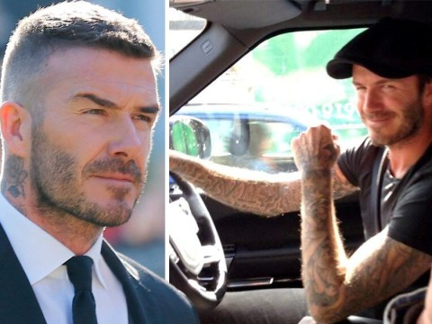 David Beckham faces driving ban after being caught on phone while driving