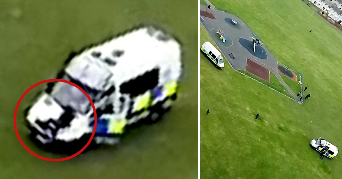 Moment boy, 16, is hit by police van after being chased down