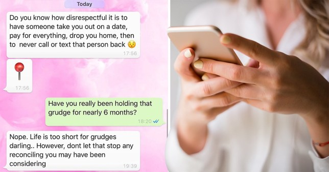 Woman gets brutal messages from man she went on one date with six