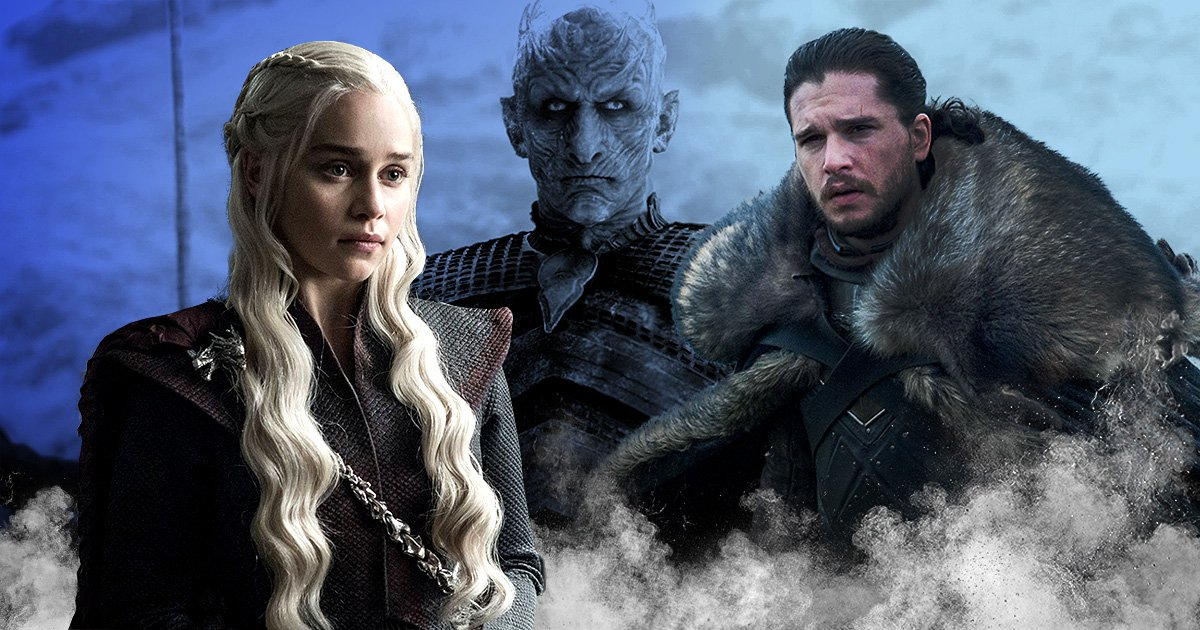 Daenerys, Jon Snow and The Night King in Game of Thrones