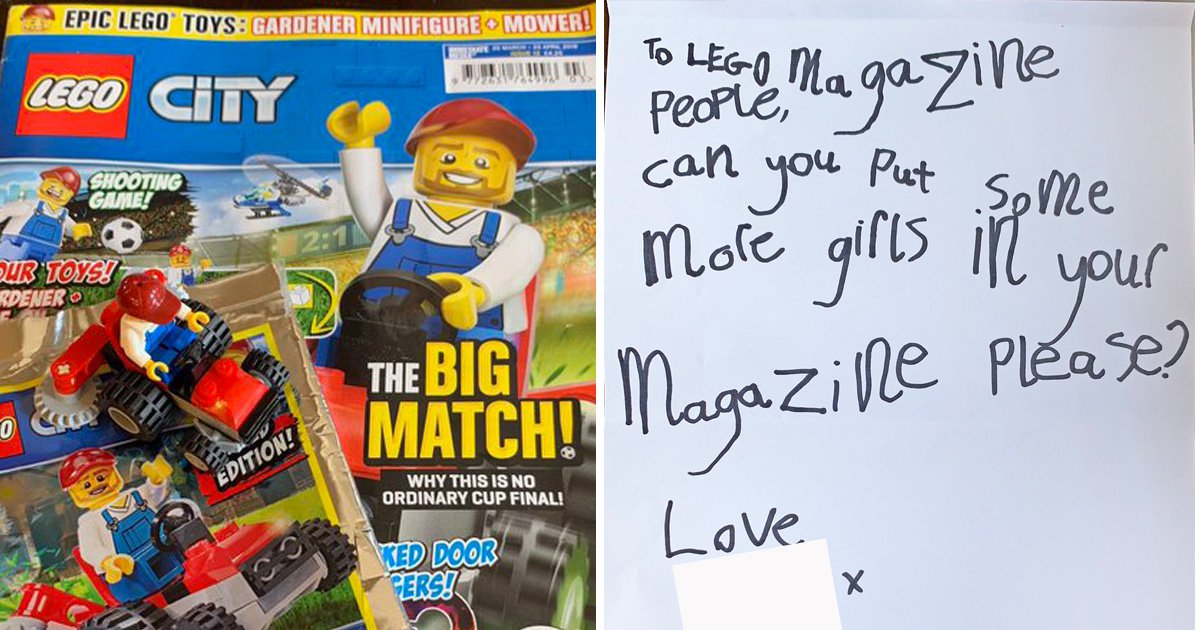 Four-year-old girl writes letter to Lego asking for 'more girls in your magazine, please'