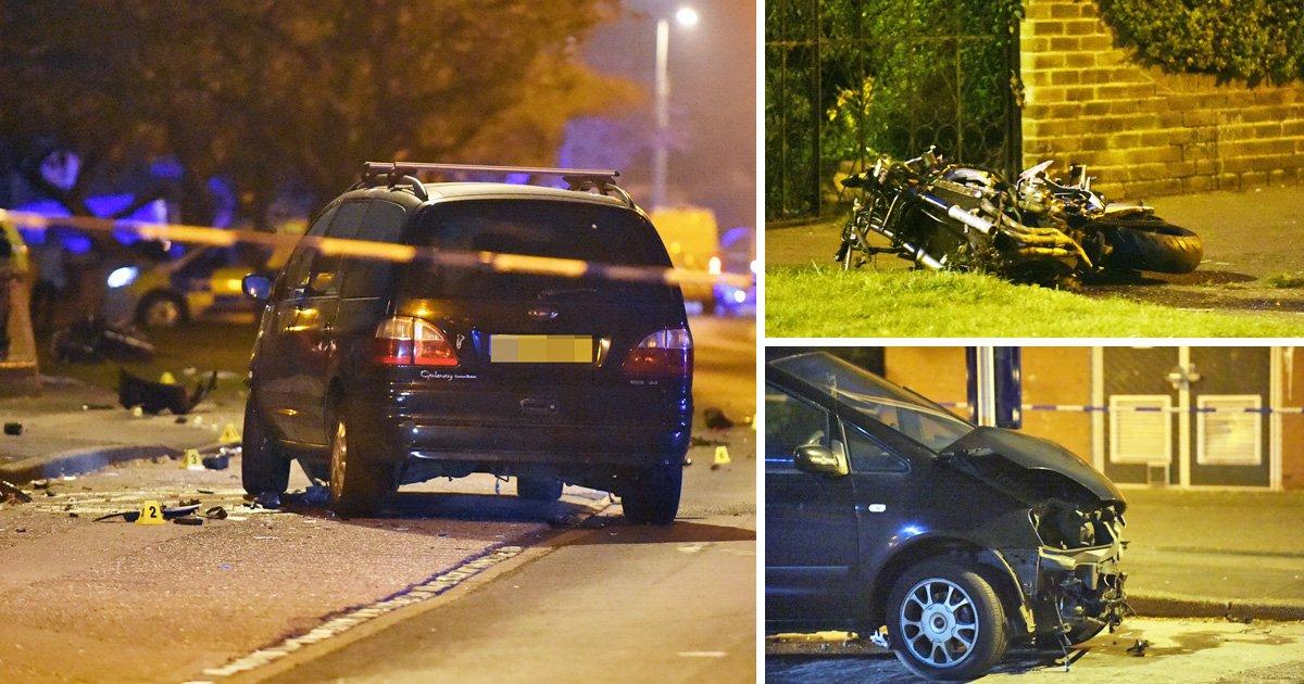 Biker 'leaves friend, 20, dead at roadside after crash with car'