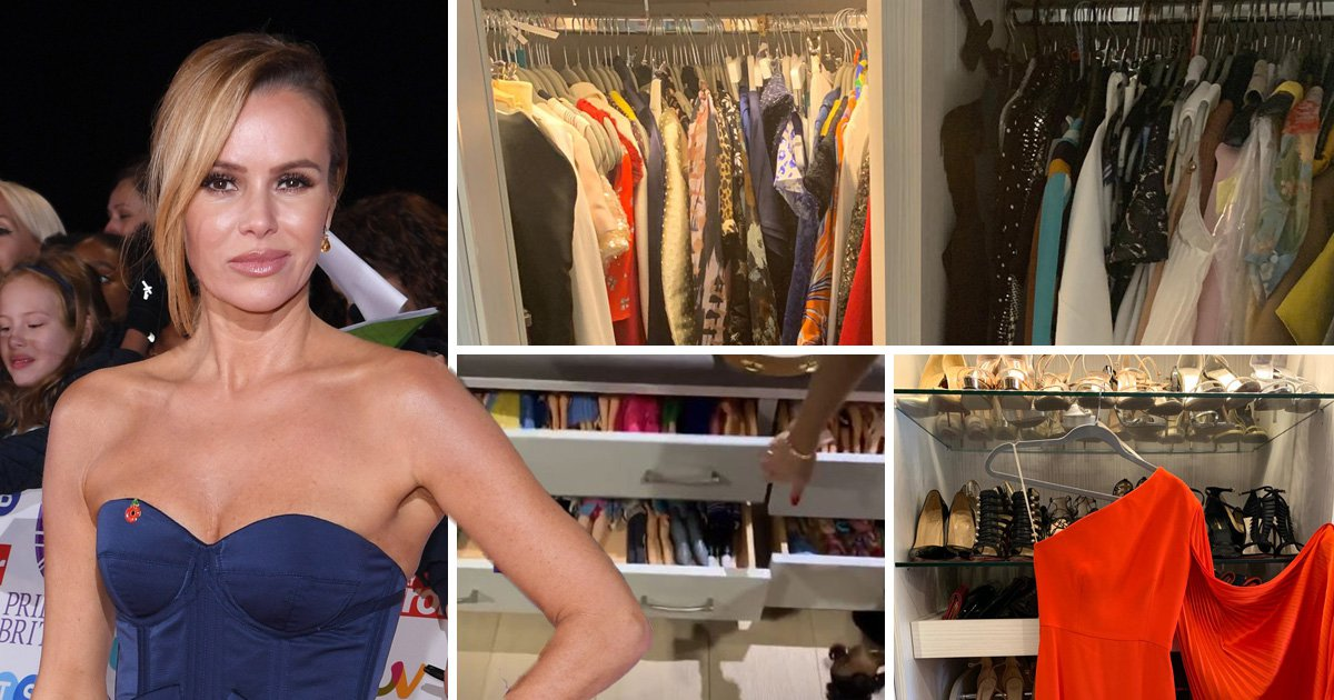 Amanda Holden's closet is a thing of dreams as she cleans up overflowing Christian Louboutin collection