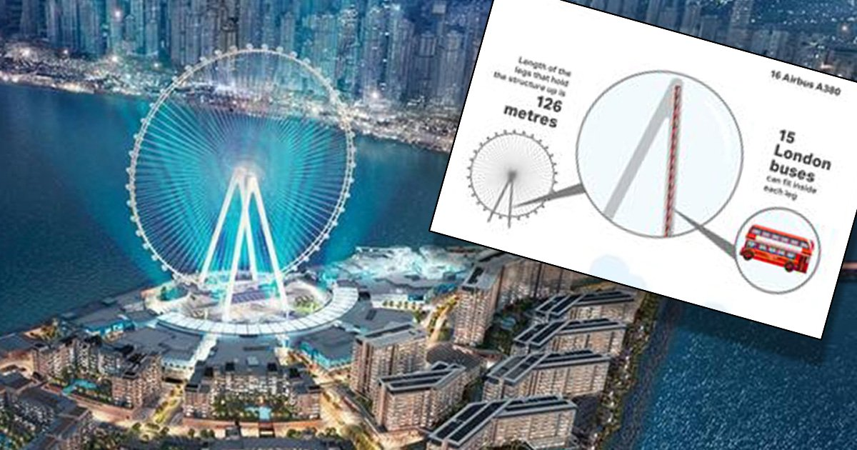 World's tallest ferris wheel will almost be twice as high as London Eye