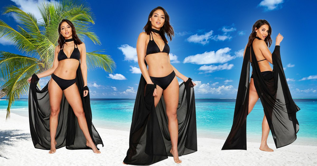 Boohoo are selling the most extra beach cover-up imaginable