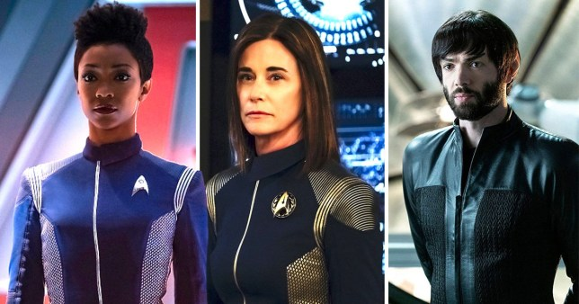 Cornwell, Michael Burnman and Spock in Star Trek Discovery