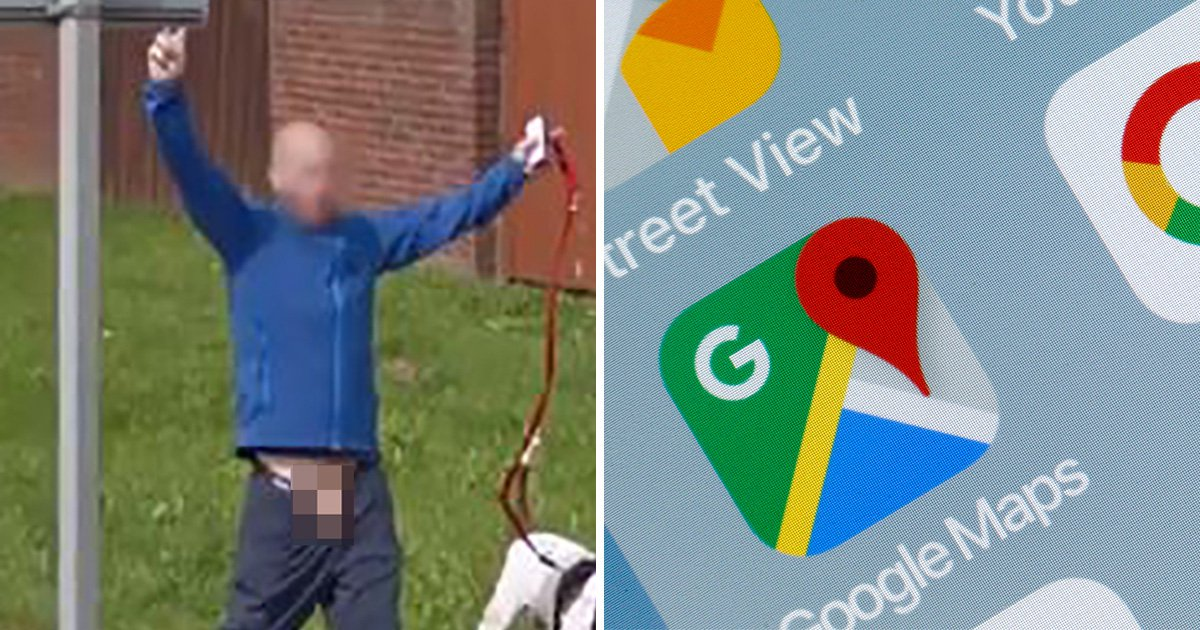 Lettin' it all hang out (Google Maps)
