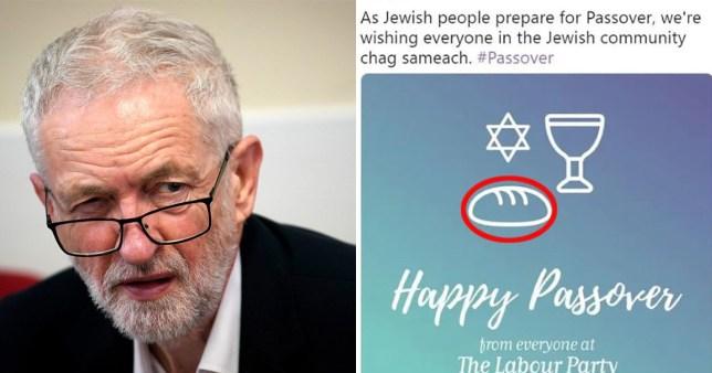 Labour Party made an error in Jewish Passover tweet