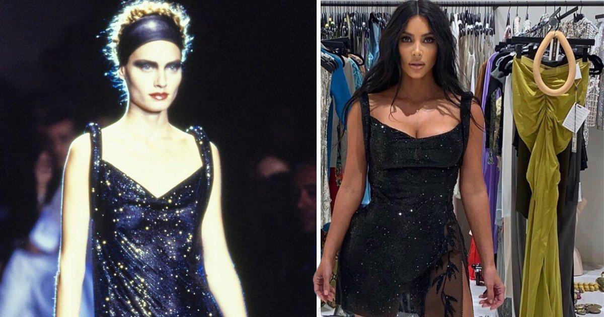 Kim Kardashian rocks vintage Versace again in sheer mini dress for Kourtney's 40th birthday bash