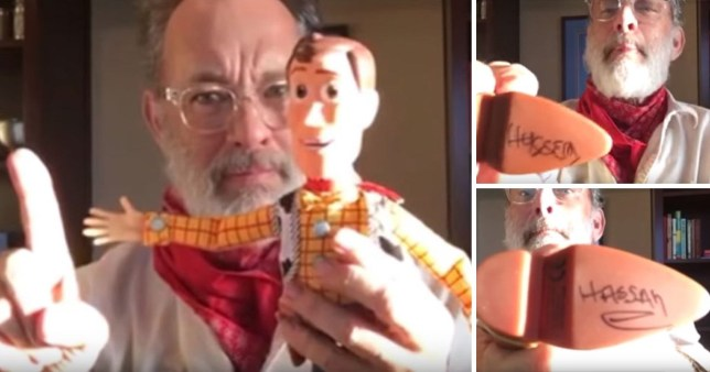 Tom Hanks records special Toy Story message for conjoined twins