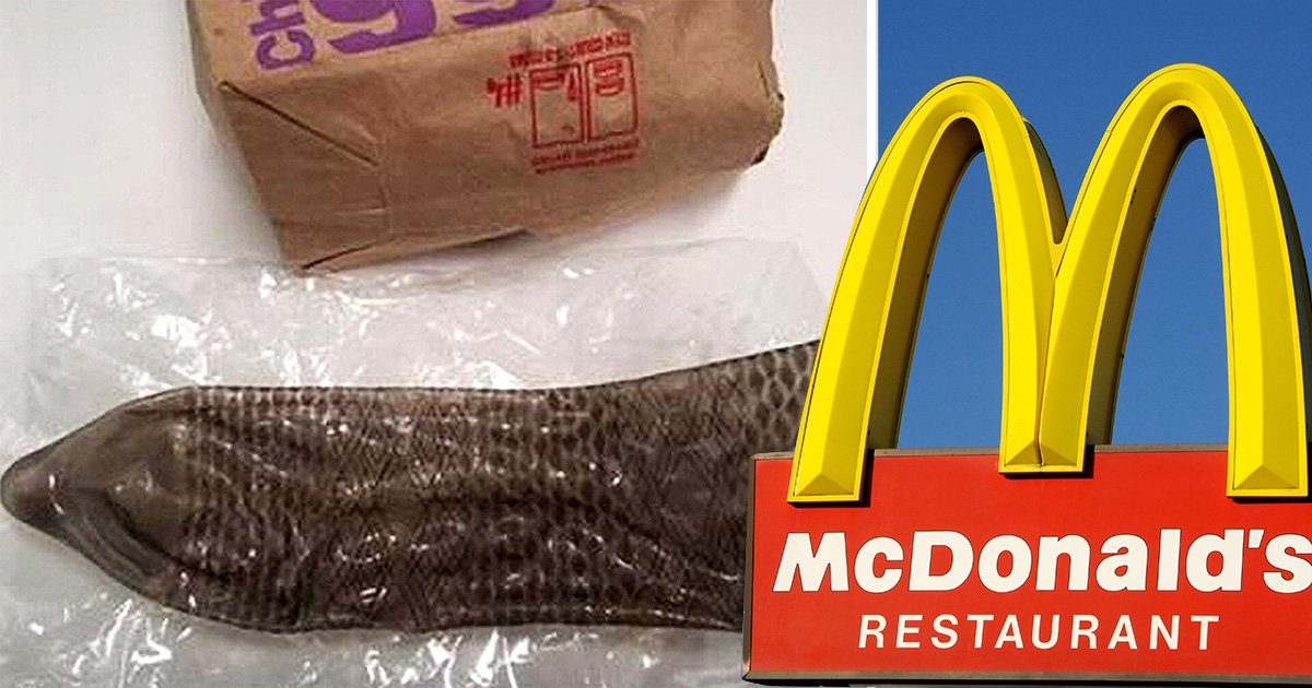 A little girl has had to be tested for STIs after finding a used condom in a McDonald's store (Pictures: 9News/Getty)