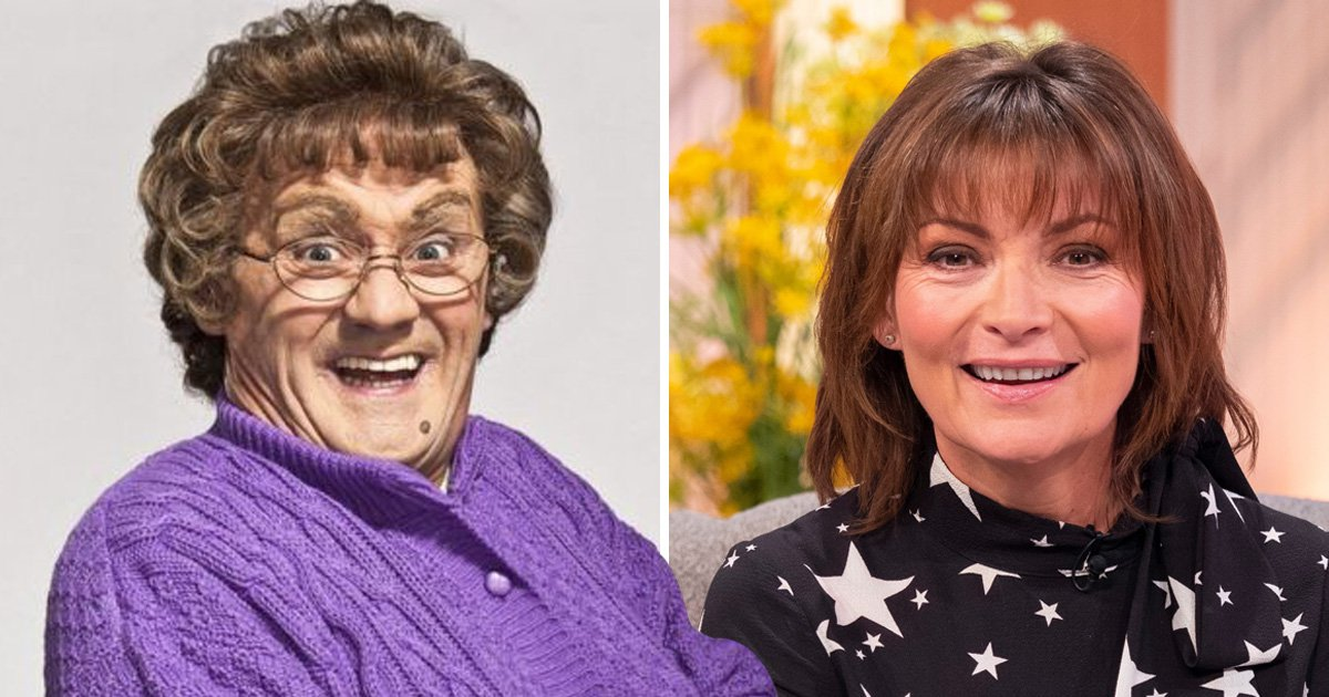 Lorraine Kelly shows off acting talents on All Round To Mrs Brown's after winning tax case