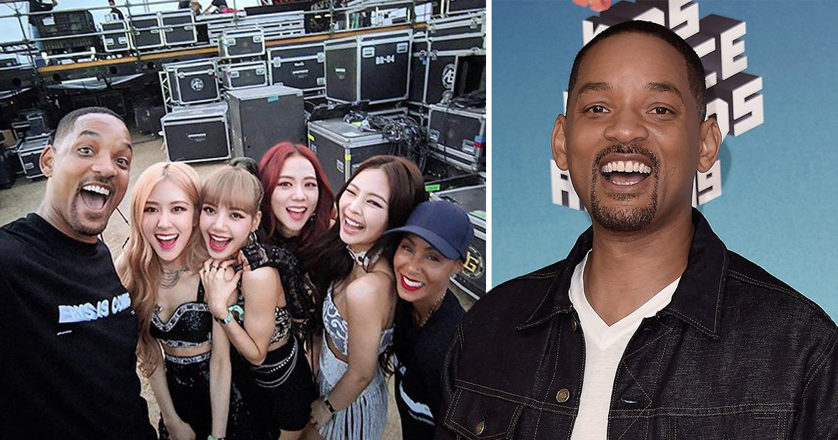 Will Smith takes a selfie with BLACKPINK during Coachella 2019 in Palm Springs