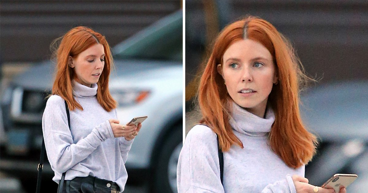 Stacey Dooley keeps head down amid Kevin Clifton romance rumours (Picture: Splash)