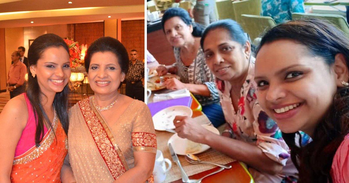 Shantha Mayadunne and her daughter Nisanga were killed in the Sri Lanka blasts