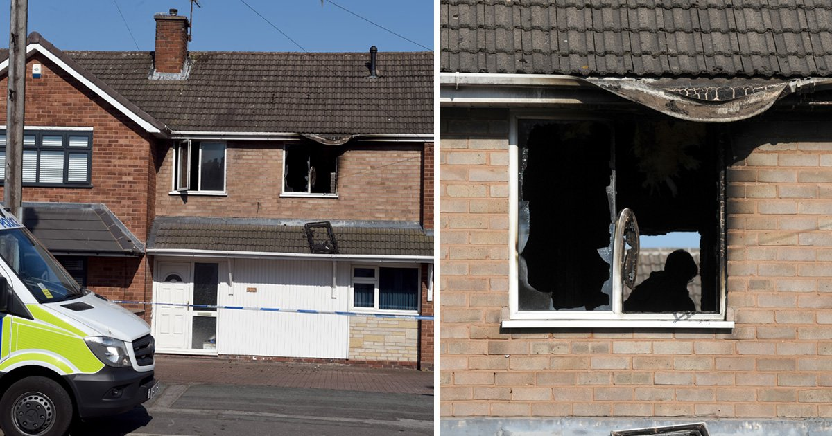 Fire crews were called to the property at 3.02am