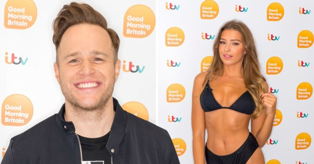 Olly Murs and Zara McDermott dated in 2019