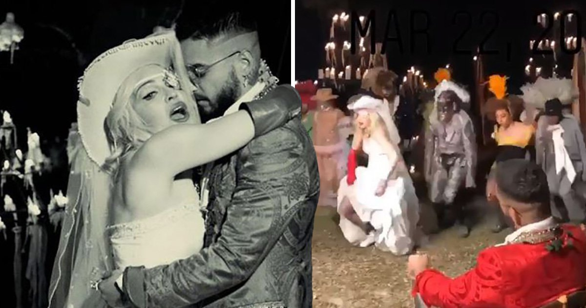 Madonna gets married to Maluma in Medellin music video teaser and it's Wild West themed