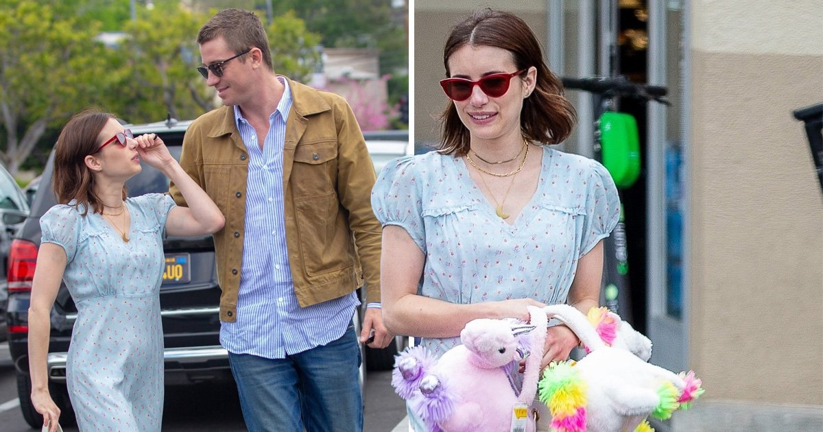 Emma Roberts and her new boyfriend Garrett Hedlund go shopping in Los Angeles on Easter Sunday
