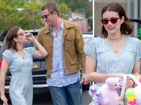 Emma Roberts ramps up the PDA with new boyfriend Garrett Hedlund on cute Easter date