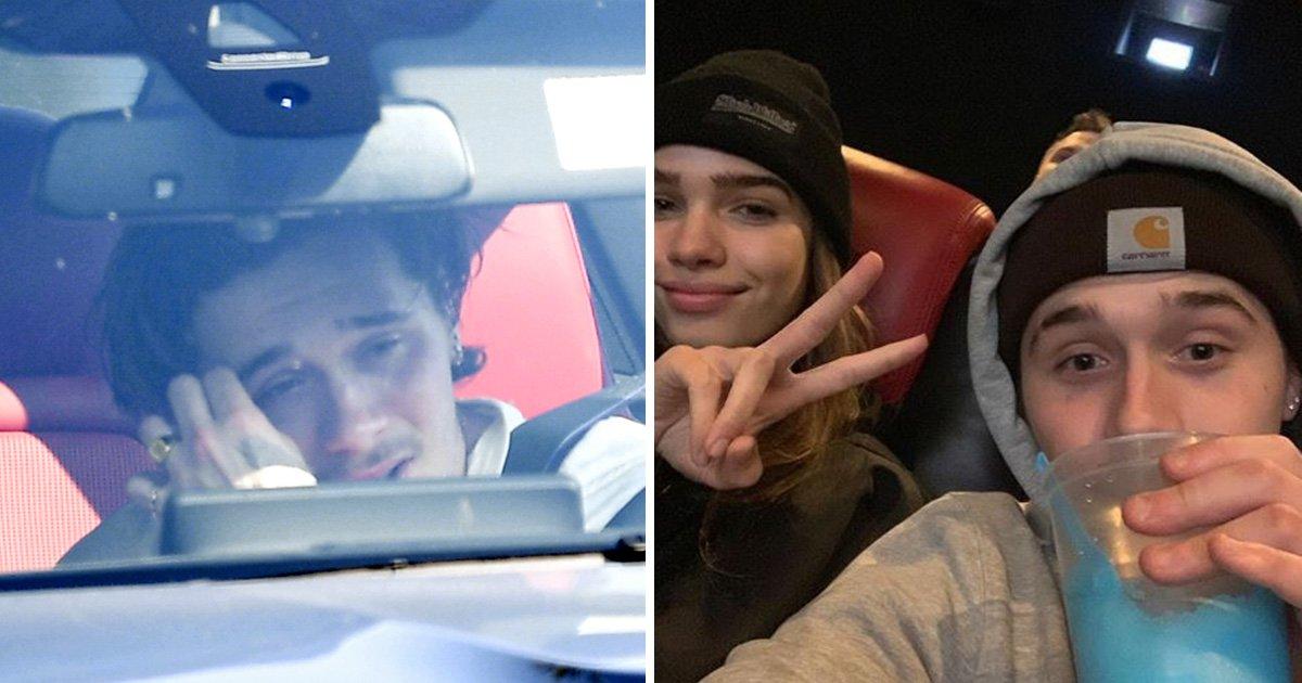 Brooklyn Beckham looks emotional with girlfriend Hana Cross as pair spotted in heated exchange