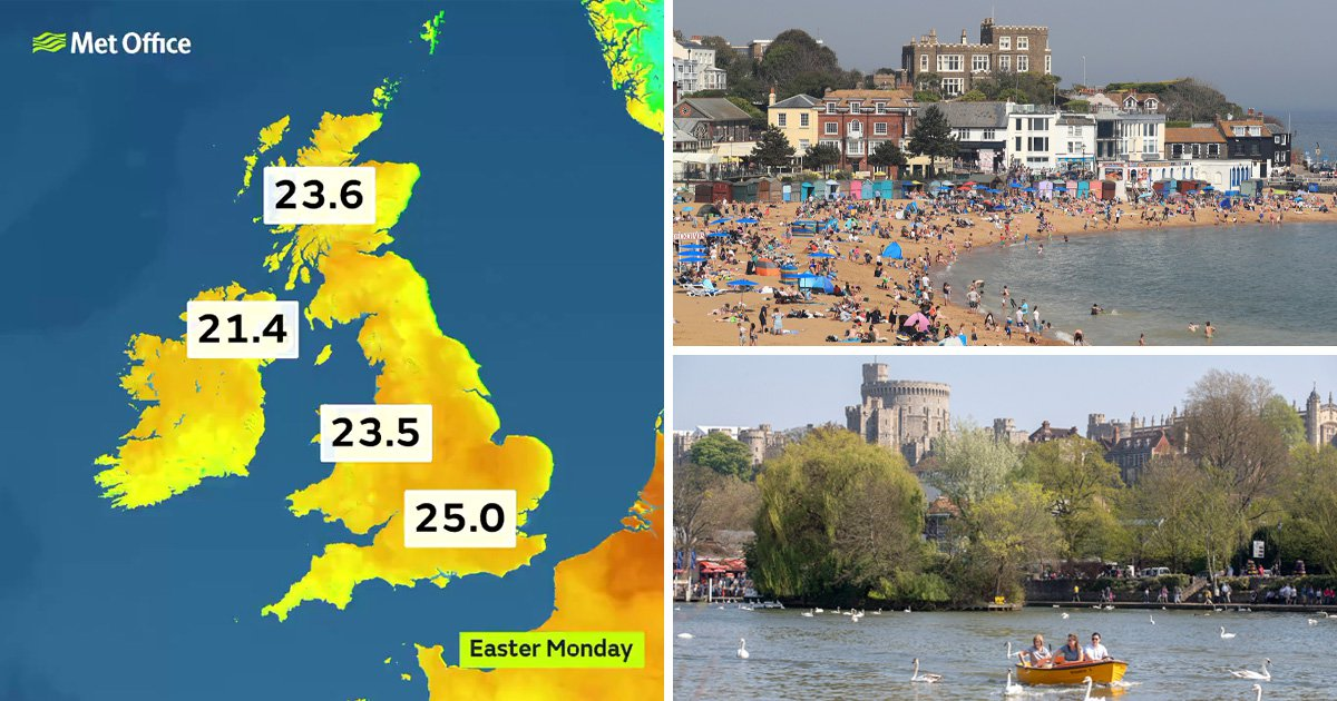 Hottest Easter Monday ever recorded across whole of UK