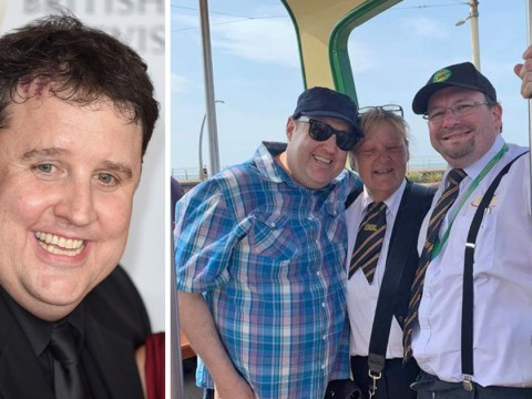 Peter Kay grins as he's seen for first time in year as Car Share funnyman spends Easter in Blackpool