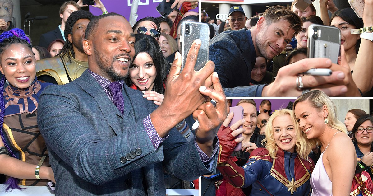 Avengers: Endgame cast hype up film's release as they pose with fans at premiere