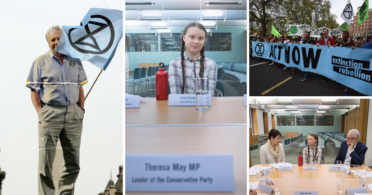 Greta Thunberg met with party leaders in Westminster