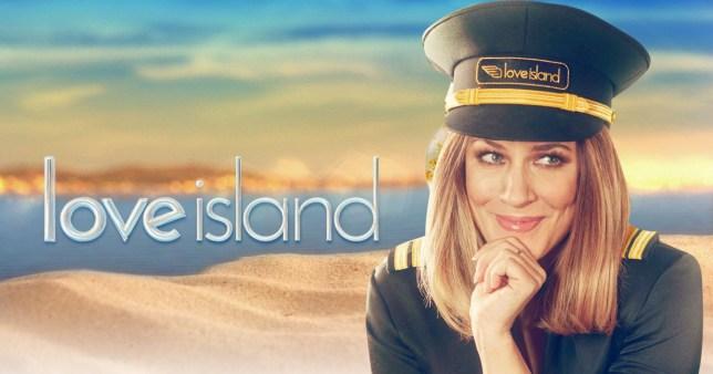 Carolin Flack on Love Island logo