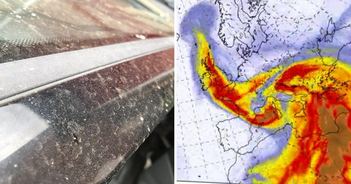 Giant cloud of Saharan dust hits UK and it's leaving cars filthy
