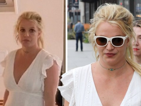 Britney Spears grabs Froyo on a break from treatment after quashing fears she is being held 'against her will'