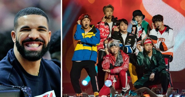 BTS performing on tour with Drake