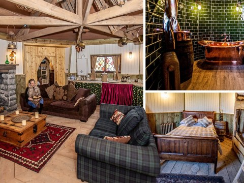 You can now stay in a replica of Hagrid's cottage for £195 a night