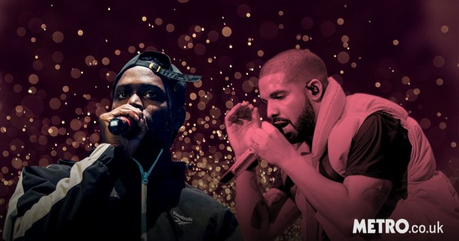Rappers Drake and Ghetts