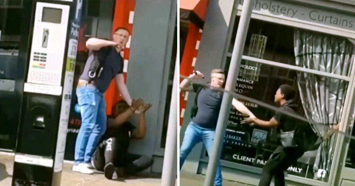 Police officer filmed hitting handcuffed teenager with baton