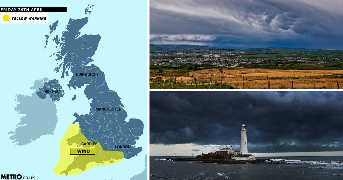 Storm Hannah to batter Britain with 75mph winds and rain this weekend