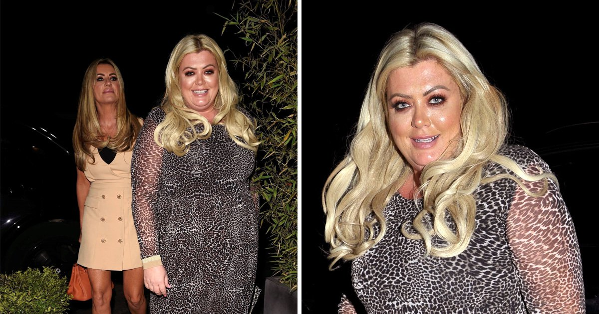 Gemma Collins heads for a Chinese with Real Housewives of Chesire's Dawn Ward after adopting vegan diet
