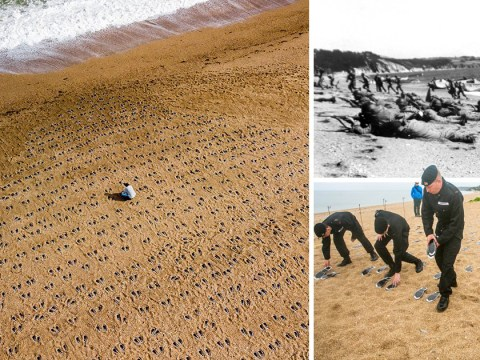American soldiers killed in secret D-Day rehearsal remembered in poignant beach tribute