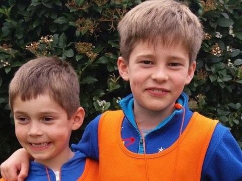 Brothers aged six and eight walk London Marathon course for the homeless