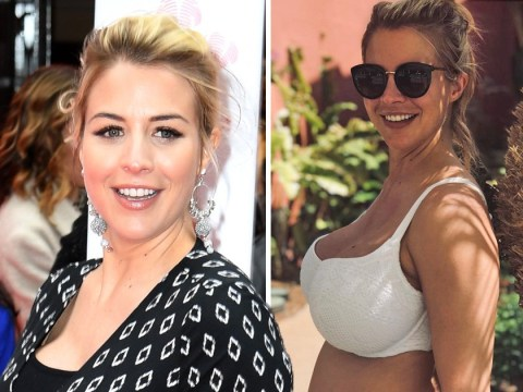 Gemma Atkinson enjoying pregnancy as she jokingly compares her body to 'a palm tree with mahooosive coconuts'