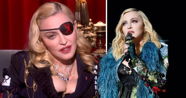 Madonna pictured at MTV event in London to launch new album